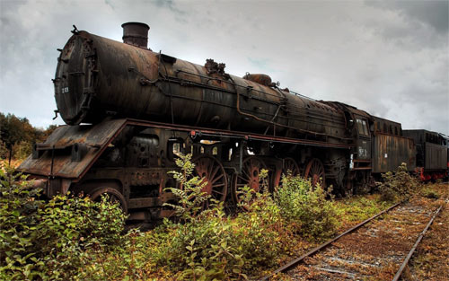 Old Rusty Trains wallpaper