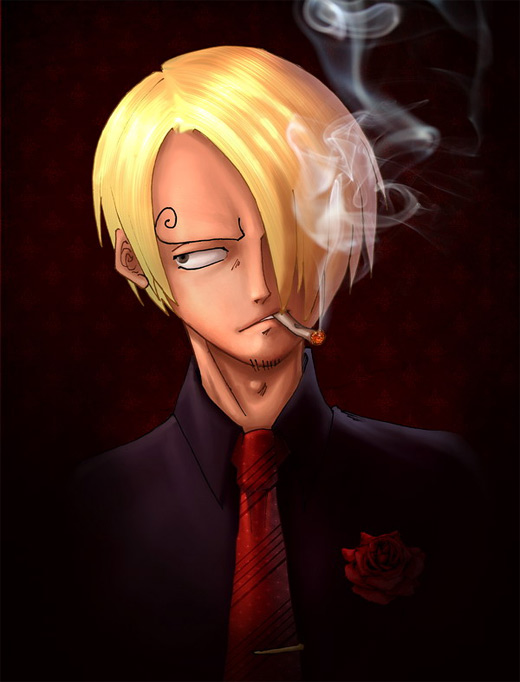 Sketch sanji one piece illustrations artworks