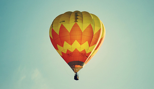 Yellow cute hot air balloon free download wallpapers