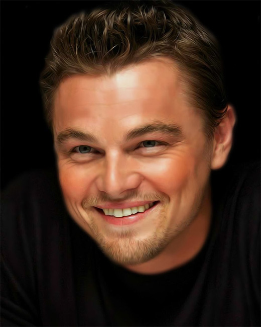 Leonardo dicaprio digital art painting celebrity