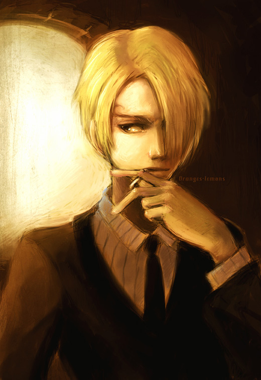 Cool sanji one piece illustrations artworks