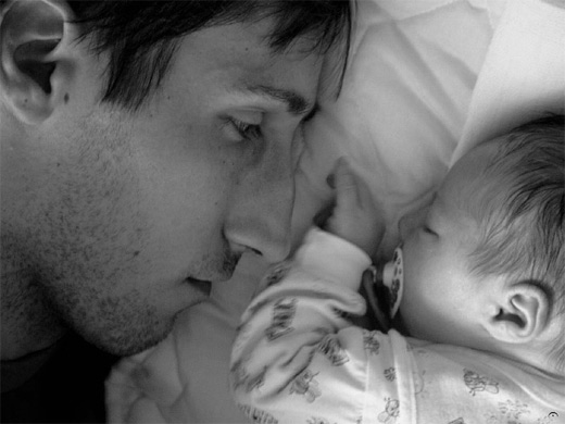Sleeping father child son daughter photography