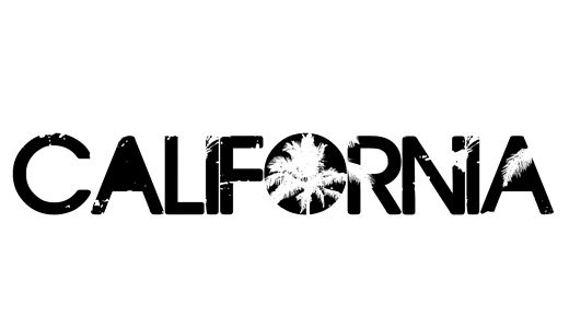 California palm trees eroded fonts free download