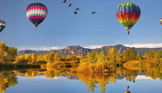 Reflection hot air balloon free download wallpapers