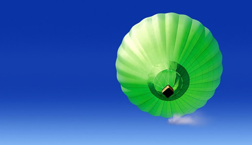 Green hot air balloon free download wallpapers