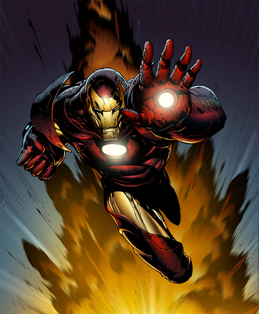 Explosive ironman iron man illustrations artworks