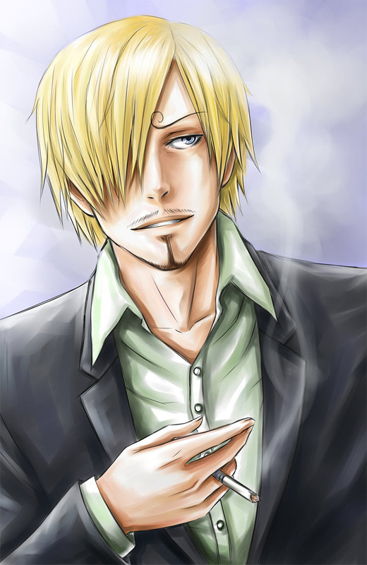 Portrait sanji one piece illustrations artworks