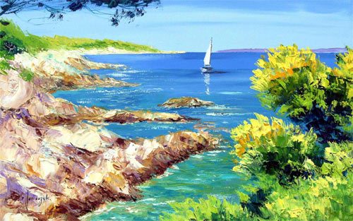 Sea Shore Painting wallpaper
