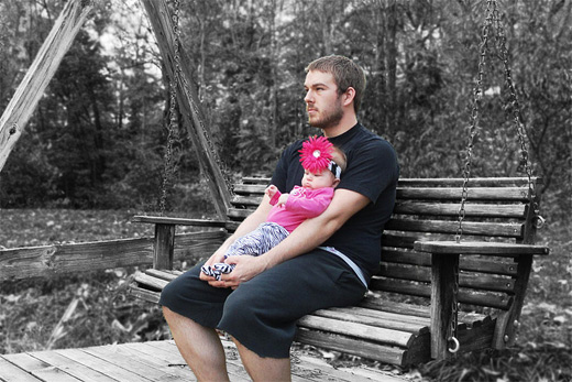 Cute baby father child son daughter photography