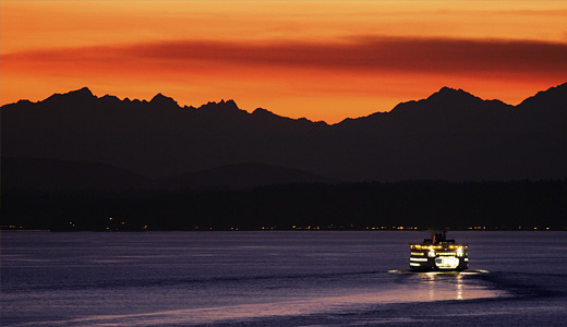 Ferry orange sky boats free wallpapers hi res high resolution