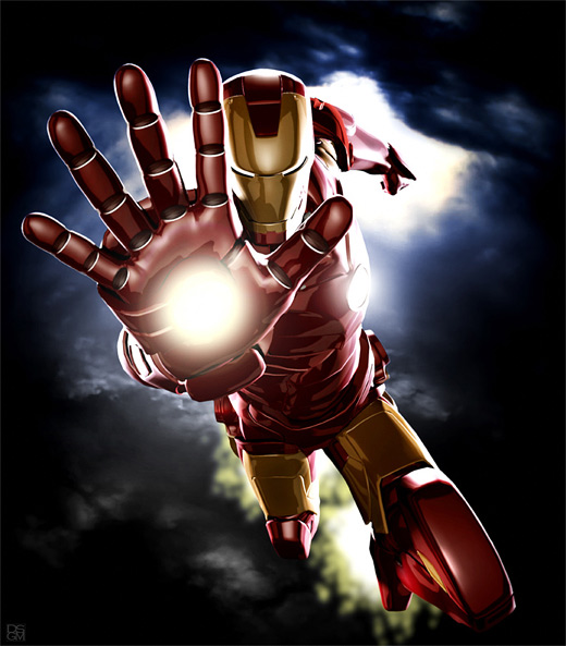 Power ironman iron man illustrations artworks