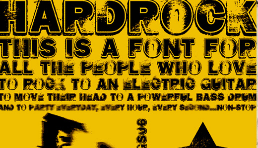 Border bold eroded fonts free download