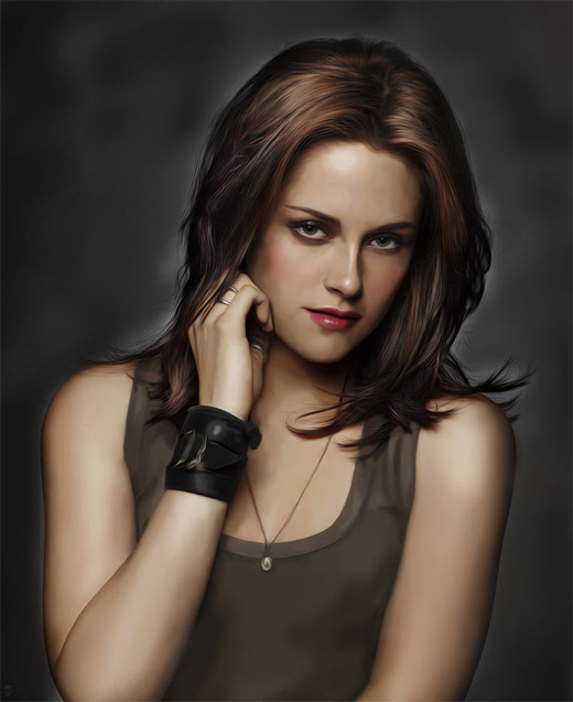 Kristen stewart digital art painting celebrity