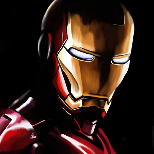 Speed paint ironman iron man illustrations artworks