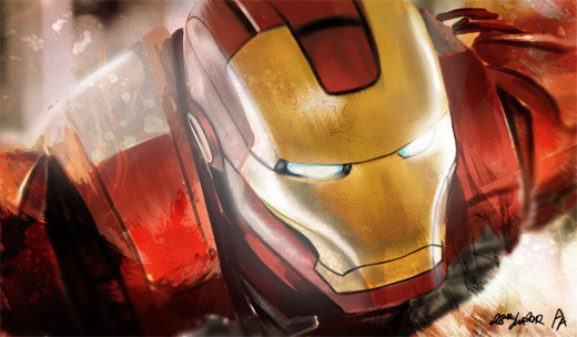 Close-up ironman iron man illustrations artworks
