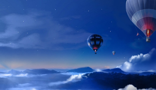 Night hot air balloon free download hi res high resolution wallpapers