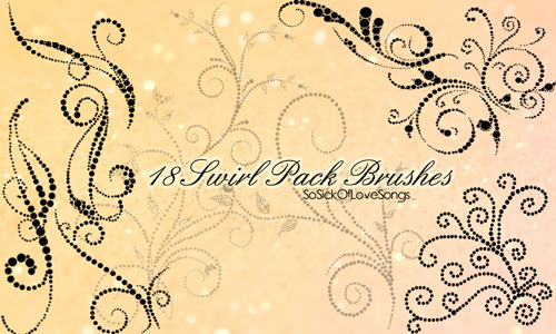 18 Pack Swirl Brushes