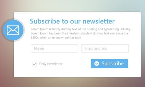 963b955510bb Minimal Email Newsletter Subscription Form PSD for Free Download