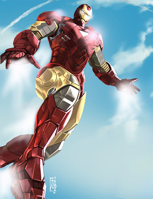 Flying flight ironman iron man illustrations artworks