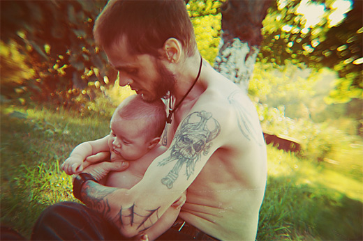 Summer father child son daughter photography