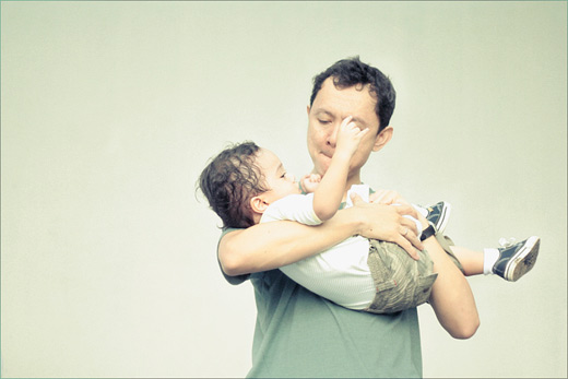 Adorable father child son daughter photography