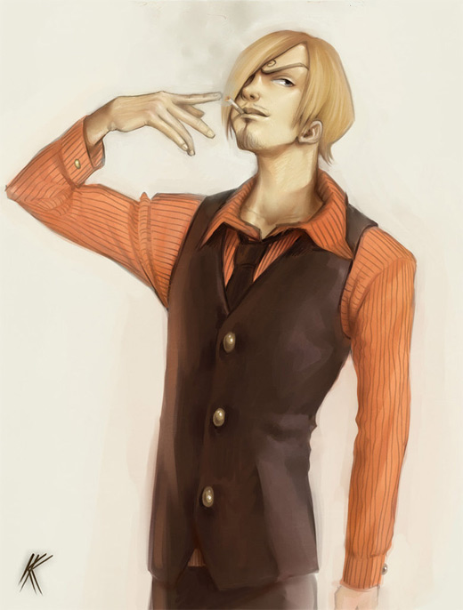 Smoker sanji one piece illustrations artworks