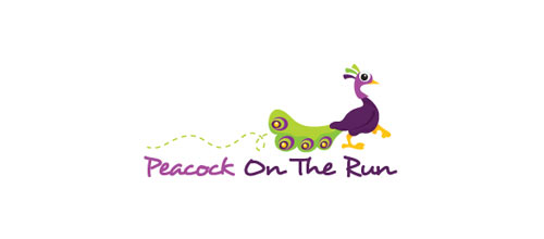 Peacock On The Run logo
