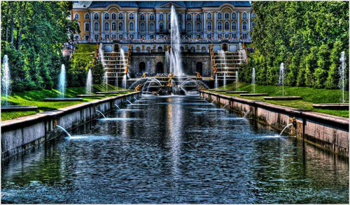 The Fountains of Peterhof,HDR