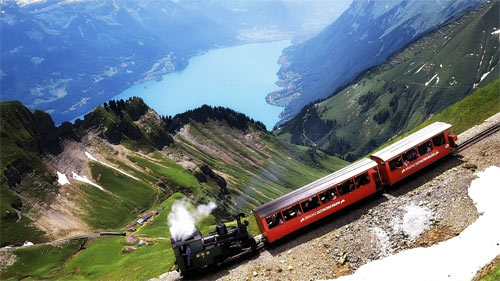 Train climbing wallpapers