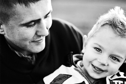 Cute boy father child son daughter photography