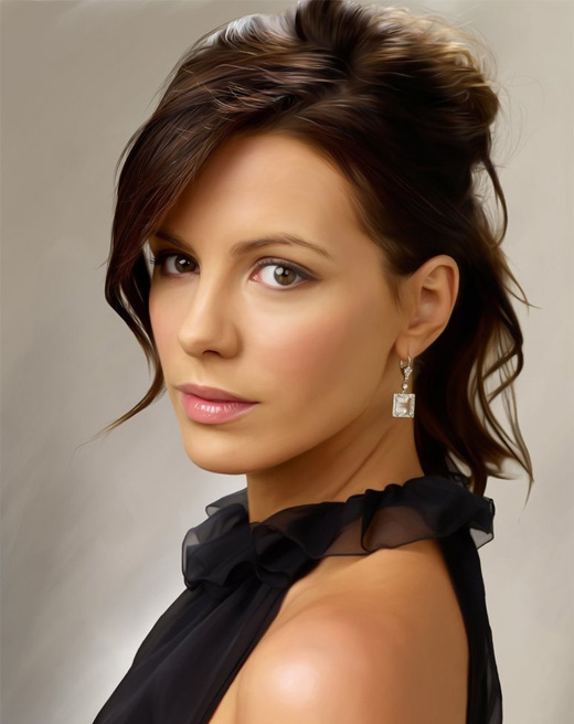 Kate beckinsale digital art painting celebrity
