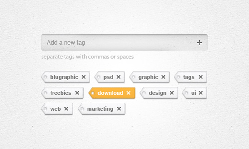 Tags Add/Remove Widget (Psd)