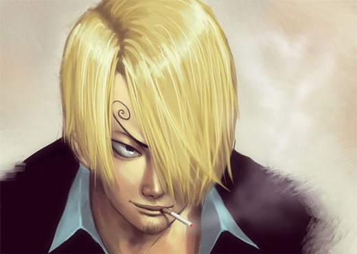 Painting sanji one piece illustrations artworks