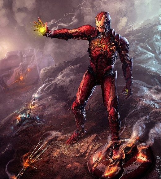 Symbiote ironman iron man illustrations artworks