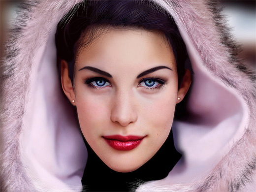 Liv tyler digital art painting celebrity