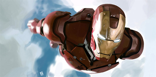 Flying ironman iron man illustrations artworks