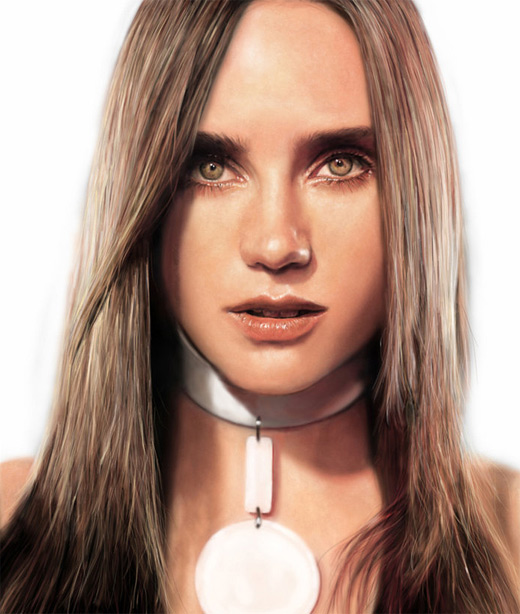 Jennifer connelly digital art painting celebrity