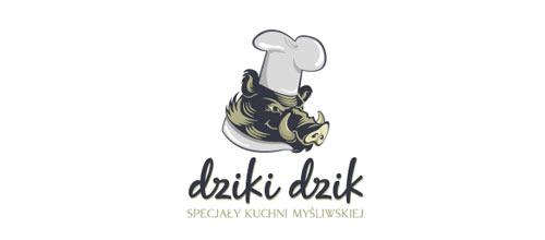 Dziki dzik logo