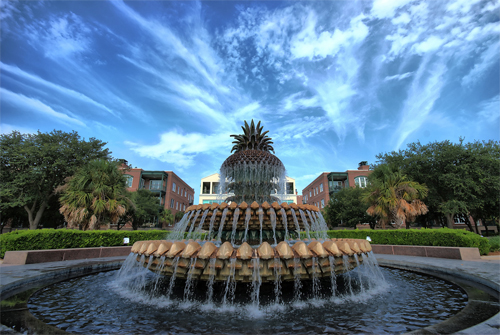 Pineapple Fountain-HDR