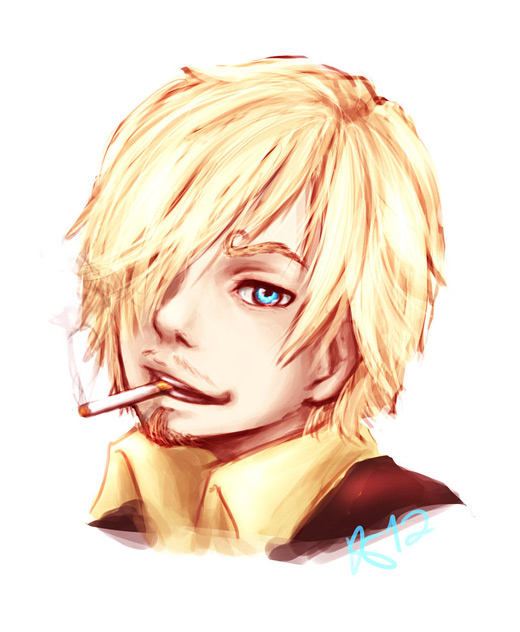 Cute portrait sanji one piece illustrations artworks