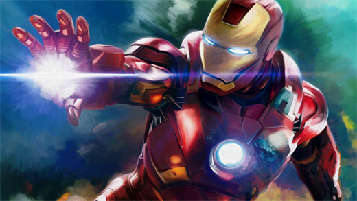 Digital paint ironman iron man illustrations artworks