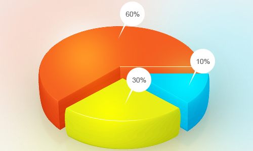 Free Pie Chart PSD Template