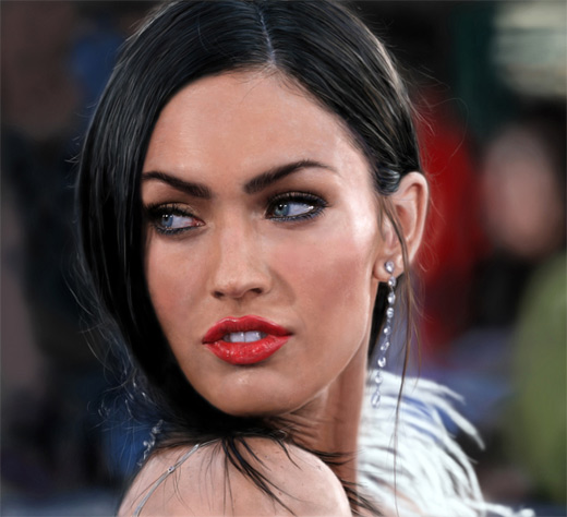 Megan fox digital art painting celebrity
