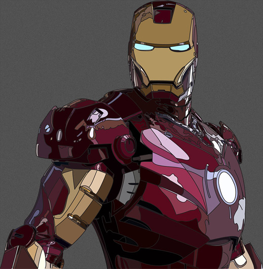 Vector ironman iron man illustrations artworks