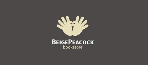 Beige Peacock logo