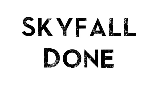 Skyfall eroded fonts free download