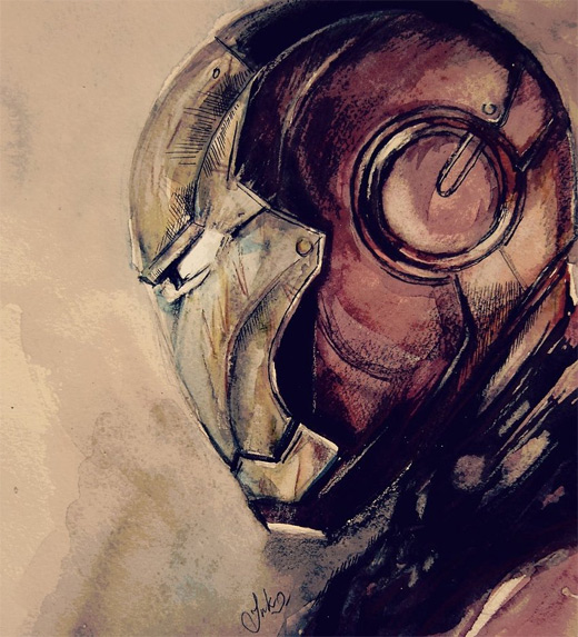 Sketch ironman iron man illustrations artworks