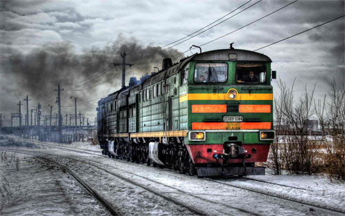 Russian Train wallpaper