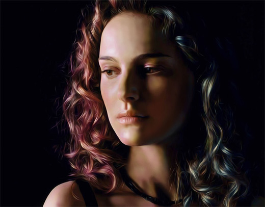 Natalie portman digital art painting celebrity