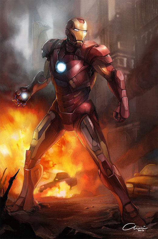 Action ironman iron man illustrations artworks